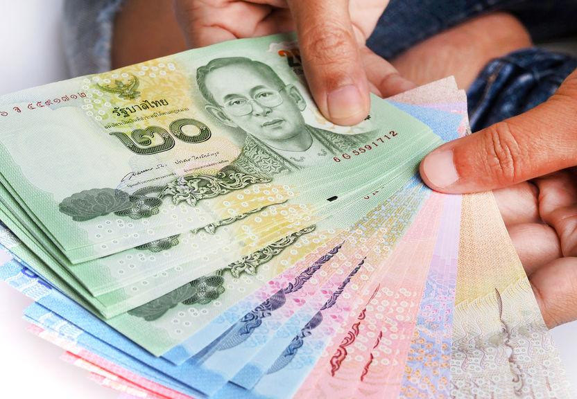 thailändische Geldscheine Baht