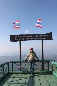 Die Grenze zu Myanmar