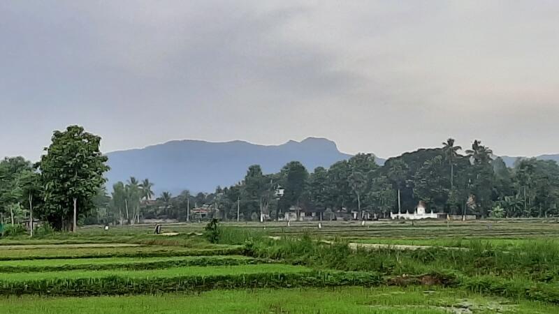 Der Doi Chang von Chiang Rai aus gesehen