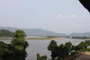 Aussicht über den Mekong in Chiang Khong-s