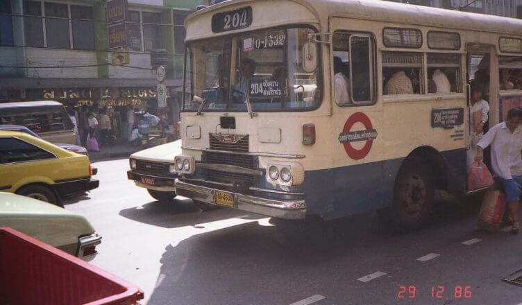 Busfahren in Bangkok in den 80er Jahren