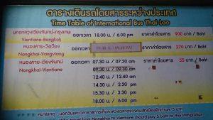 Busfahrplan über die Grenze nach Laos