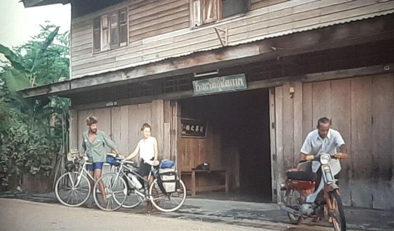 Radfahrer in Cha Am Thailand 1986