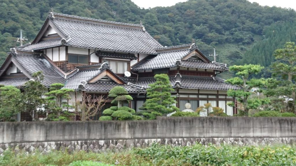 Traditional houses and gardens in Japan