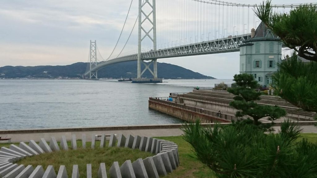 Akashi - cycling Longest suspension bridge