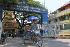 Grenzübergang nach Myanmar in Mae Sai