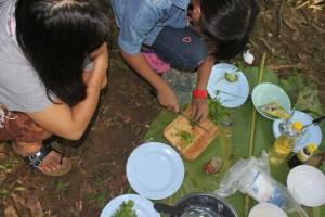 Kochen im Nationalpark in Nordthailand
