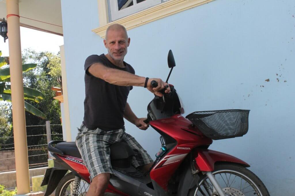 Stefan auf Honda Wave