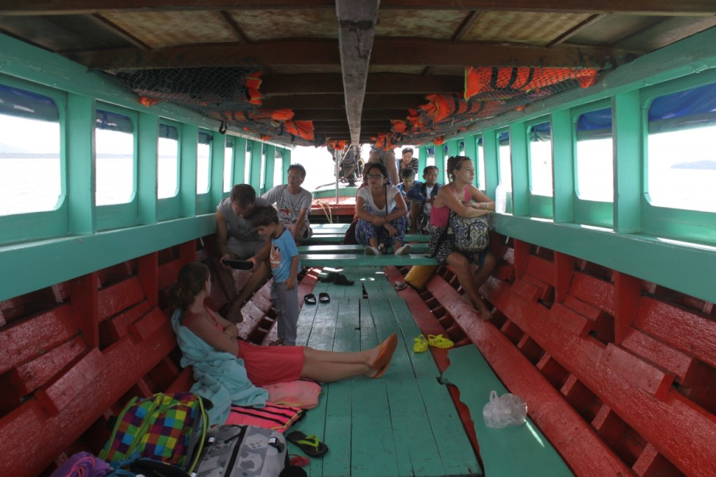 Im Boot nach Koh Chang