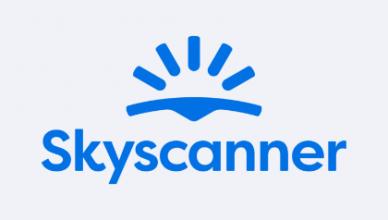 Das neue Skyscanner Logo