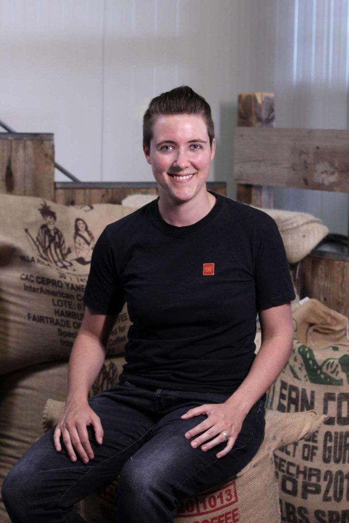 Michelle Braun im Team der Bonafede Kaffeerösterei