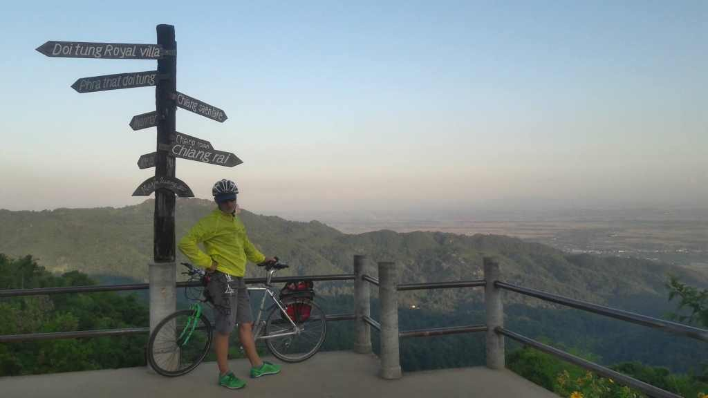 Radfahren am Doi Tung