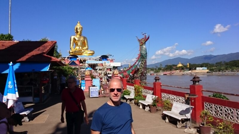 Goldenes Dreieck am Mekong in Thailand
